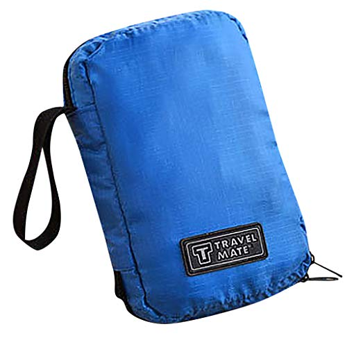 R-Cors Hanging Toiletry Bag Large Kit Folding Makeup Organizer for Men & Women Travel Travel Bags Packing Cubes, Best Value Suitcase Organiser (Blue)