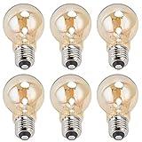 Lámpara De Filamento LED A60 De 6 Piezas, Bombillas Antiguas De época, Bombilla De Vidrio Dorado Con Base De 4 W E27, Luz...