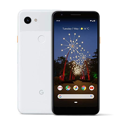 Google Pixel 3A 64GB Smartphone Android 9.0 (3A, Clearly White) (Generalüberholt)