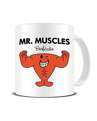 MR. Muscles - Beefcake - Inspired by The Mr. Men - Mug - Shaw T-Shirts - Ceramic Cup - Tea - Coffee - Hot Drinks