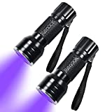 RENOOK 21 LEDs Mini UV Black Light Flashlight - 395nm Detector for Dog Pet Urine Stains Bed Bugs and Scorpions,...