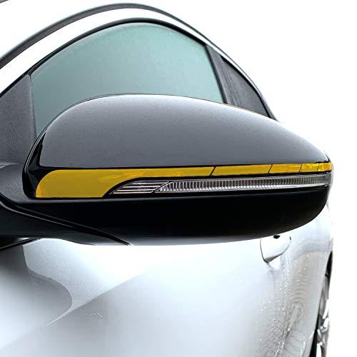 P057 Seitenstreifen Spiegel | Auto | Spiegelaufkleber | Aufkleber | Streifen | Oracal 751C (Gold Metallic, Variante 2)