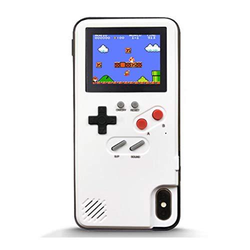 ZBHGF - Carcasa para iPhone con 36 juegos clásicos, color blanco