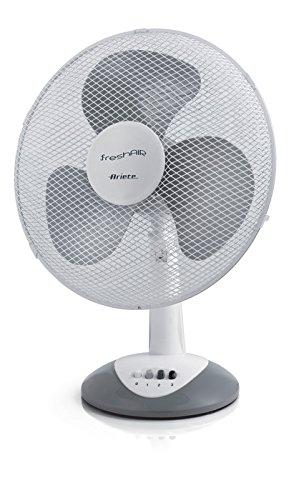 Ariete 847 Ventilatore da Tavolo, 3 velocità, Elica a 3 Pale, Funzione Oscillazione e Inclinazione, 40 W, Plastica, Bianco