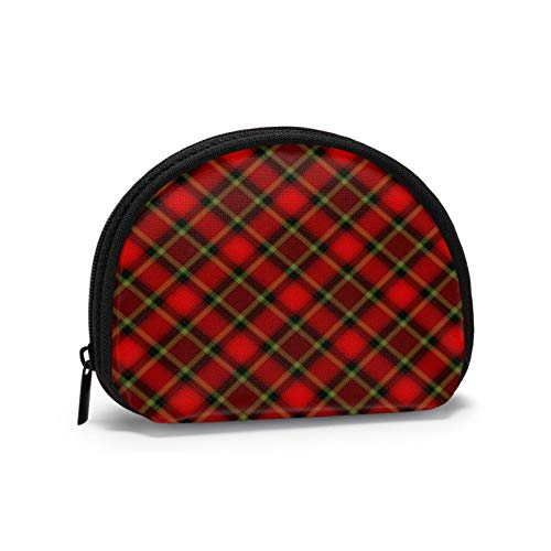 Colourful Buffalo Plaid Moose Pattern Women Portable Coin Purse Zippered Change Pouch Wallet Shell Storage Bags