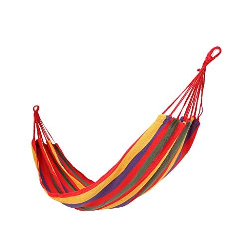 WXGM Prévention du Renversement du Camping en hamac, intérieur Simple en extérieur, Portable (Couleur : Red, Taille : 280×80cm)