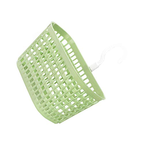 HEMOTON Canasta de drenaje para colgar cesta de almacenamiento giratoria para ducha, loción para el hogar, cocina, baño, color verde