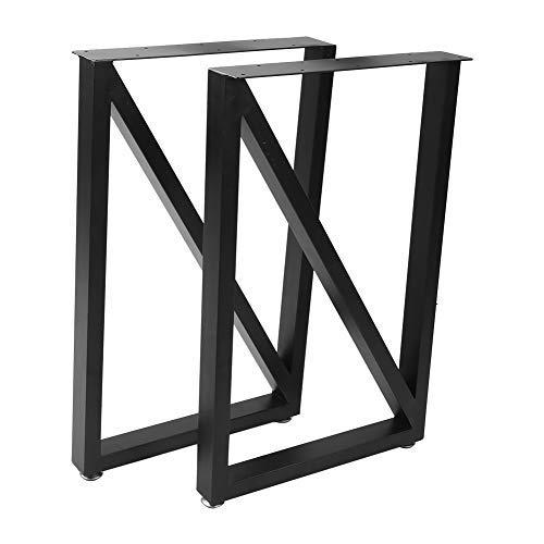 lyrlody- Conjunto de 2 Piezas Patas de Mesa, Pata de Mesa Cuadrado, para Mesas de Café Mesas Auxiliares Escritorios Mesas Auxiliares Bancos, 71 x 45 cm