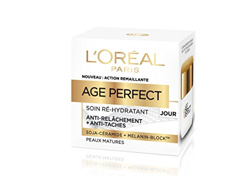 L'Oréal Paris - Age Perfect - Soin Jour Ré-Hydratant - Anti-Relâchement & Anti-Tâches - Peaux Matures - 50 mL