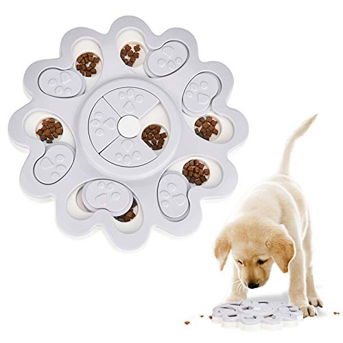 Furpaw Hundefutter Spielzeug, Hund IQ Treat Dispenser Interaktive Snack Feeding Schüssel, Lernspielzeug Futterspender für Hunde Katze - Grau