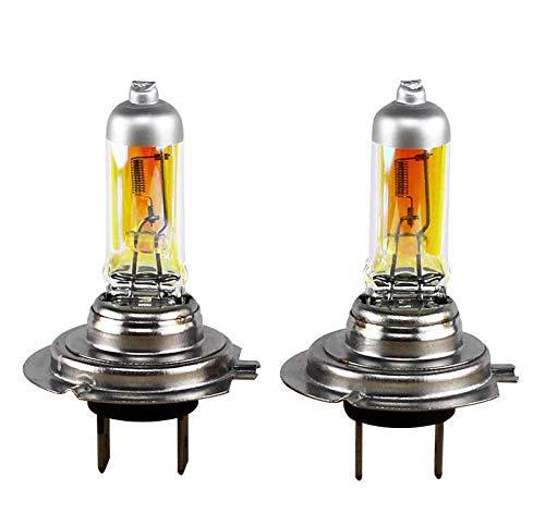 2xSt. AQUA VISION H7 55W PX26d 12V Halogen Lampen Auto Birnen 3000k YELLOW/GELB Abblendlicht Fernlicht Zusatzscheinwerfer Nebelscheinwerfer - Hallenwerk