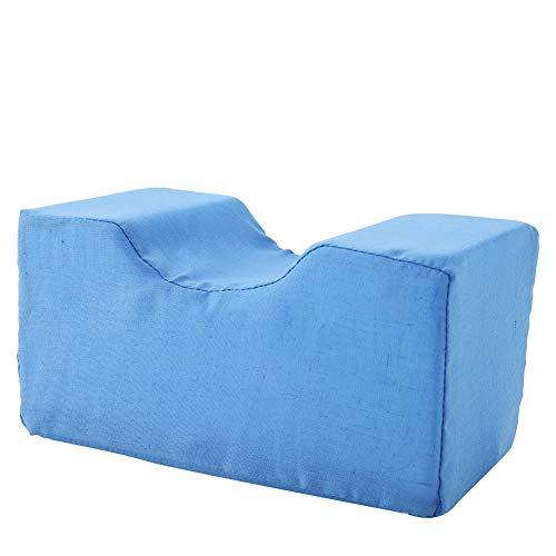 Cojín de cuña de esponja, extraíble, alivio de la fatiga, almohada de soporte de cuña, 2 colores, elevación de piernas, cojín de soporte de esponja(azul, Los 20 * 10 * 10cm)