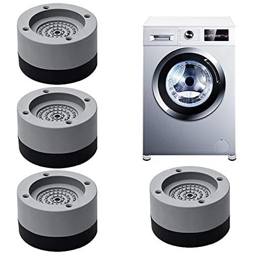 4pcs Almohadilla de Goma para Lavadoras,Soporte de Goma Antivibración,Amortiguador de vibraciones universal,Almohadillas para pies de lavadora,Pies para lavadora,Almohadilla antivibración (Gris-B)