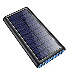 powerful 26800mAh Solar Portable Charger, 2020 Phone Charger Phone External Backup Battery Power Bank…