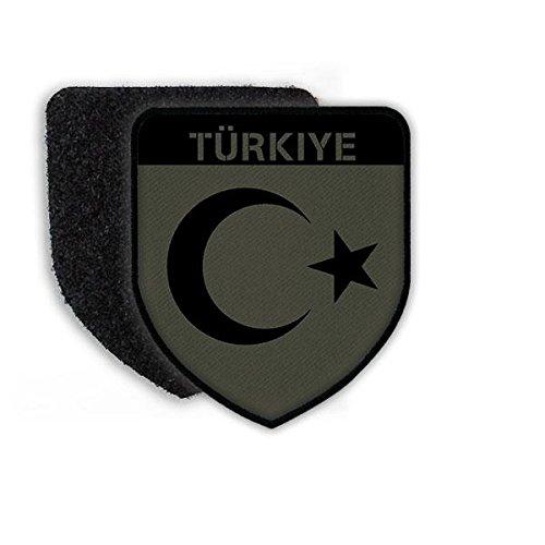 Copytec Patch Türkiye Türkei Fahne Halbmond Stern Uniform Armee Ankara Erdogan Istanbul Atatürk Aufnäher Flagge#21484