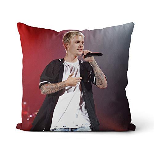 Almohada Decorativa Justin Bieber Cojín para sofá Sala de Estar sofá decoración del Coche Funda de Almohada + núcleo de Almohada 45X45CM