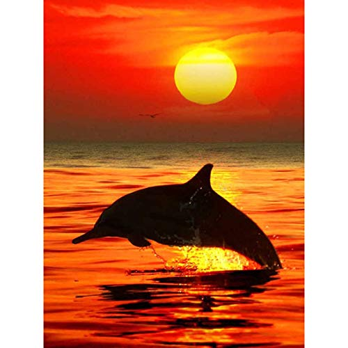 Full Round Drill 5D DIY Diamond Painting'Sunset Scenery' 3D Embroidery Cross Stitch 5D Home Decor Gift A14 50x70cm