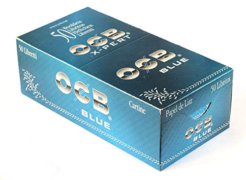 OCB X-Pert Expert - Papel azul, corte, 50 libritos (sin nicotina)