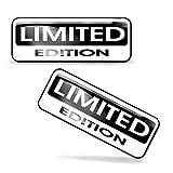 SkinoEu® 2 pcs 3D Gel Silicona Stickers Pegatinas Limited Edition Silicona Adhesivo Autos Coches Motos Ciclomotores Bicicletas Ordenador Portátil KS 89