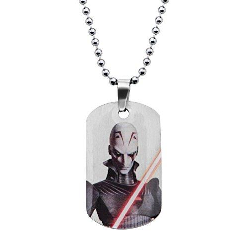Star Wars Rebel Inquisitor Hundemarke Anhänger Halskette