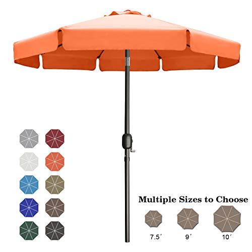 ABCCANOPY 230cm Sonnenschirm im Freien Wasserabweisende Bespannung -Gartenschirm Marktschirm,Orange