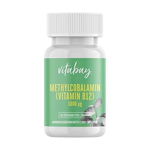 Methylcobalamine - 5000 mcg - vitamine B12 - veganistische luttabletten 60 vegane Lutschtabletten