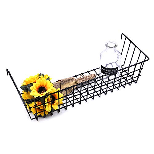 ANZOME Korb Metall, multifunktional Korb draht, kreativ, wandgitter Korb, Pflanzen-Halter, Blumentöpfe, schwarz beschichtet