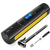 AOKBON Bomba de Neumáticos 150 PSI 15L/min Compresor Aire portatil Recargable con Pantalla LCD para Automóviles Motocicletas Bicicletas y Pelotas
