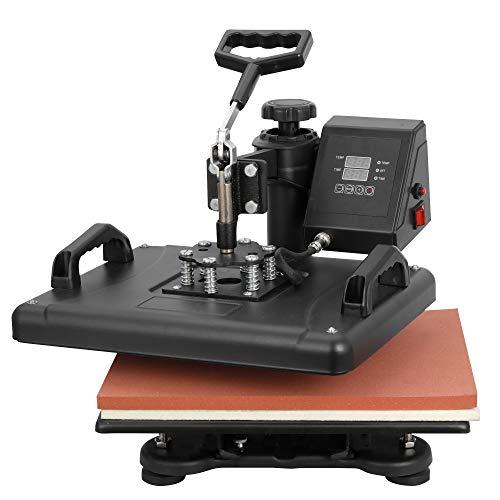 ZENY Upgrated Proffesional Digital Tshirt Heat Press Machine 5 in 1 Swing Away Multifunctional Sublimation Heat Transfer Printer Machine,12 x 15 Inch,5 pcs