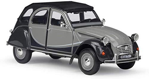 Automodell 01.24 Citroen 2CV 6 Charleston Classic Car Simulation Legierung Auto-Modell (Farbe: Grau) ZGHE (Color : Gray)