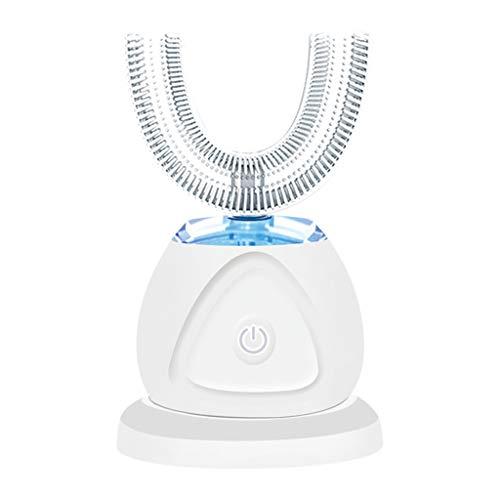 Generic Escova de dentes elétrica 360°, automática, recarregável,deixa as mãos livres, Branco, Automatic Ultrasonic Electric Toothbrush