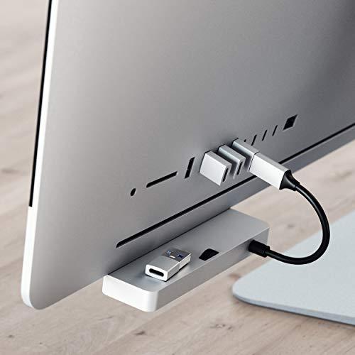 SATECHI Typ-A zu Typ-C-Adapter/Converter USB-A Stecker auf USB-C Buchse - kompatibel mit iMac, MacBook Pro/MacBook, Laptops, PCs, Computer und andere (Silber)