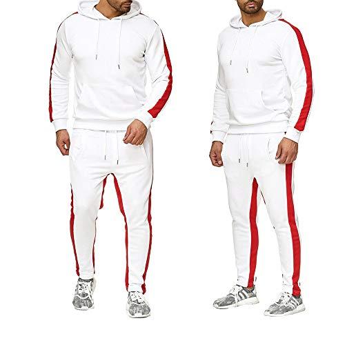 CAOCK Herren Kapuzenpullover mit europäischer und amerikanischer Strickjacke Einfarbig Bruce Lee Kung Fu Wear Anzug Herren Freizeitsport Zweiteiler