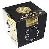 Die Trüffelmanufaktur - Feinkost Trüffelbutter Premium mit 25% echtem frischen schwarzem Trüffel, die Delikatesse für Feinschmecker, weiße Trueffel-Butter im Glas á 95 g - Made in Germany
