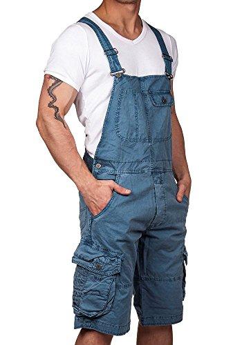 Jet Lag Herren Latzhose Overall Shorts blue denim XXL