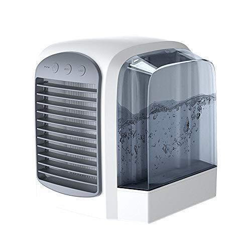 Jjoer Ventilador Rowenta Ventiladores De Agua Ventilador Silencioso Sin Aspas Nebulizador Ventilador Mini Ventilador Ventilador con Luz para Salidas De Picnic Gray