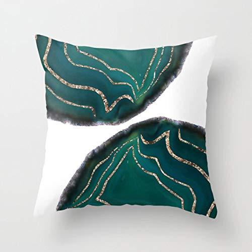 Swooggle Blue Green Animal Stars Fodere per Cuscini Quadrati Ins Style Fodera per Cuscino Vita Domestica Divano Cuscino per Auto Decorazione 450 * 450mm Argento