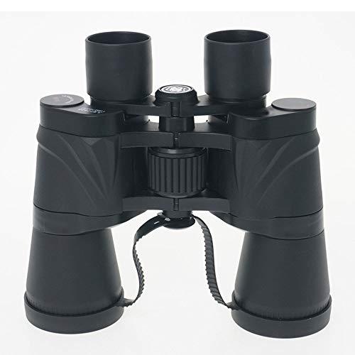 DKEE 20 * 50 Doppelrohr-Hochleistungsferngläser Licht- Und Farbfilterteleskop, Schimmer Sichtbar Schwarz (Farbe : Black)