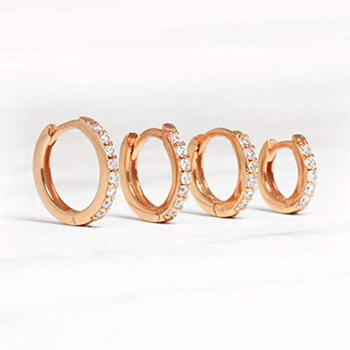 Bwer Luxury Small Studing Earrings 925 Sterling Silver Circle Round Earrings for Women Men Party Wedding Ear Ring Jewelry
