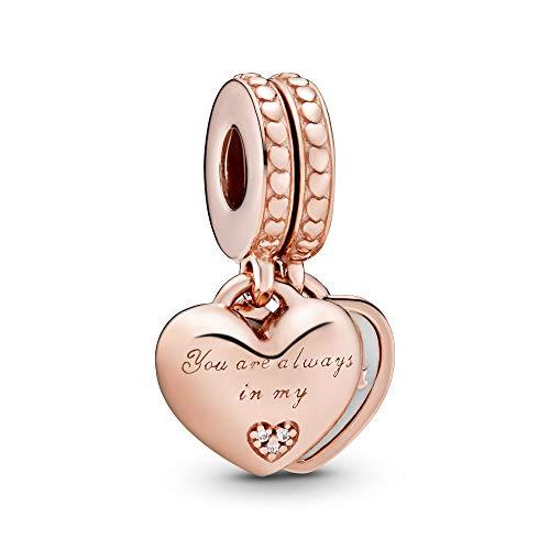 Pandora Moments Mother & Daughter Hearts Damen Charm Anhänger Pandora Rose 23 mm