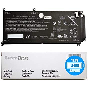 GreenTech LP03XL 807417-005 Replacement Battery for HP Envy 15-ah000na, 15-ah151sa, 15-AH155NR, 15T-AE100, 15Z-AH000, M6-AE151DX, M6-P013DX, M6-P014DX 11.4V 48Wh 3 Cell Battery