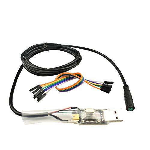 Pswpower Cable de programación USB para 8fun / Bafang BBS01B BBS02B BBS03 BBSHD Mid Drive/Center Cable programado para Motor de Bicicleta eléctrica (AD) BF-USB-Cable