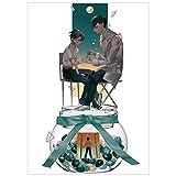 ruggito Chaude Anime Toilette Liée Hanako-Kun Affiche Anime Thème Evebel Chambre Décorative Peinture Papier Enduit Affiche 42 x 30 cm(Style 4)