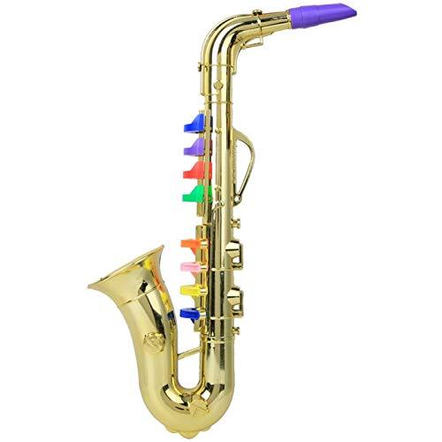 Child Saxophone, Birthday gift Musical Instrument 8 keys toy Saxophone...