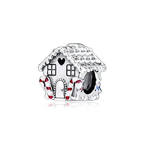 Pandora S925 colgante de joyería de plata esterlina Encantos para pulseras, collares, cuentas de pan de jengibre para el hogar, joyería de plata esterlina, envío gratis