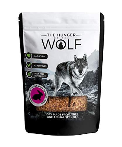 The Hunger of The Wolf - Snack de carne de conejo para perros, 200g