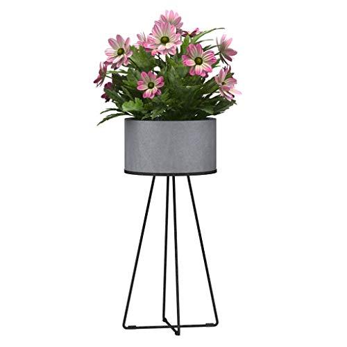 OLMME staande plant metaal creatief rond, industriële wind cement bloempot pot pot pot houder binnen buiten tuin plant plant plant plant plant plant