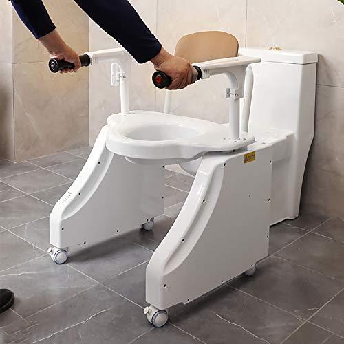LXT PANDA Ascensore WC Elettrico, Sedile WC Rialzato, Telecomando Senza Fili, Base Antiscivolo, Portante Alto, Prolunga di Sicurezza per Bagno Assistiti Disabili, Anziani, Disabili