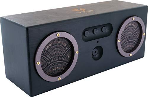 Bluetooth Lautsprecher -715798- klein, Mini Bluetooth Speaker Stereo, Musikbox, Lautsprecher Boxen Bluetooth tragbar mit Headset Funktion aus FSC zertifiziertem Bambus Holz, Micro USB, AUX