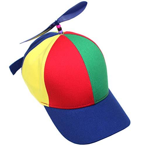 PRETYZOOM Propeller-Hüte, lustige Partyhüte, Spinner-Hut, Nerd-Hut, Helikopter-Hut, Neuheit, Partygeschenke, Erwachsene ab 9 Jahren - Blau - 56 cm